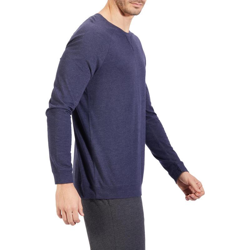 100 Hooded Gentle Gym & Pilates Sweatshirt - Blue