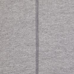 Sweater 500 voor pilates en lichte gym heren lichtgrijs