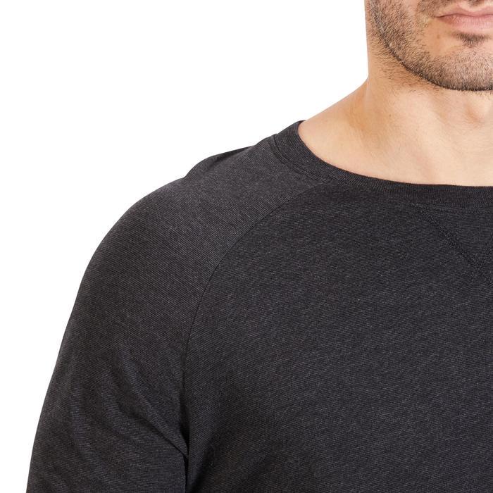 Sweatshirt 100 Gym Stretching Herren dunkelgrau