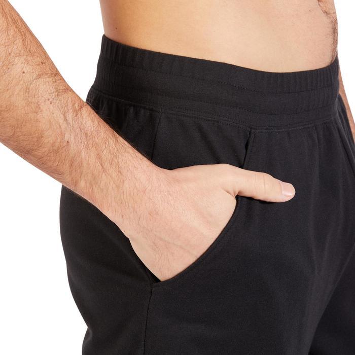 Short 500 regular au dessus du genou Gym Stretching noir homme - 1317781