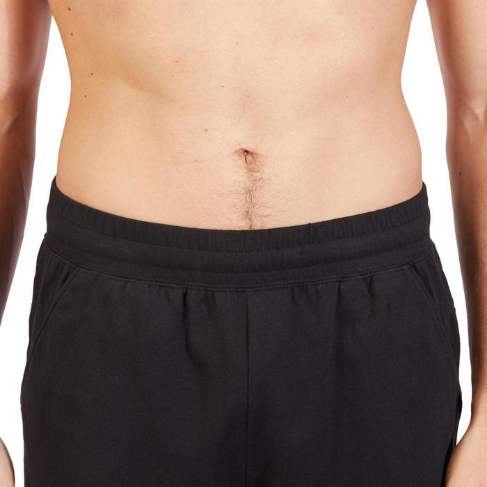 Short 500 regular au dessus du genou Gym Stretching noir homme - 1317787