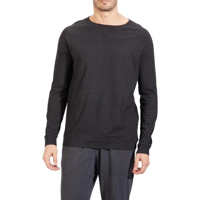 Sweat 100 Gym Stretching homme gris foncé - 1317824