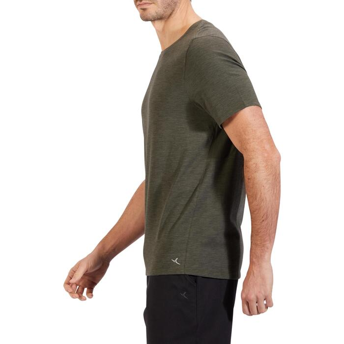 T-Shirt 520 regular col rond Gym & Pilates blanc AOP homme - 1317825