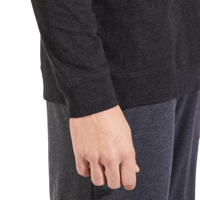 Sweat 100 Gym Stretching homme gris foncé - 1317831