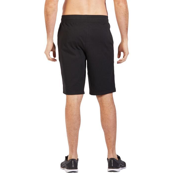 Short 500 regular au dessus du genou Gym Stretching noir homme - 1317832