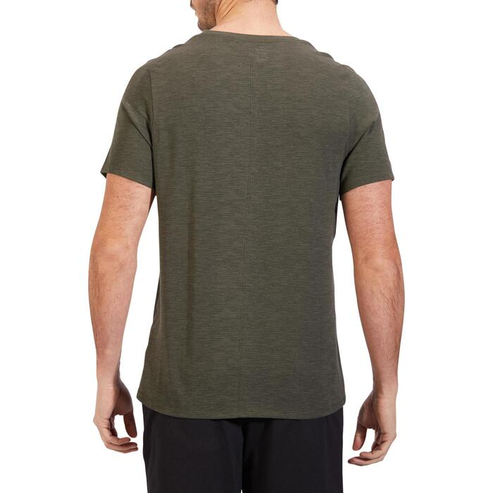 T-Shirt 520 regular col rond Gym & Pilates blanc AOP homme - 1317846