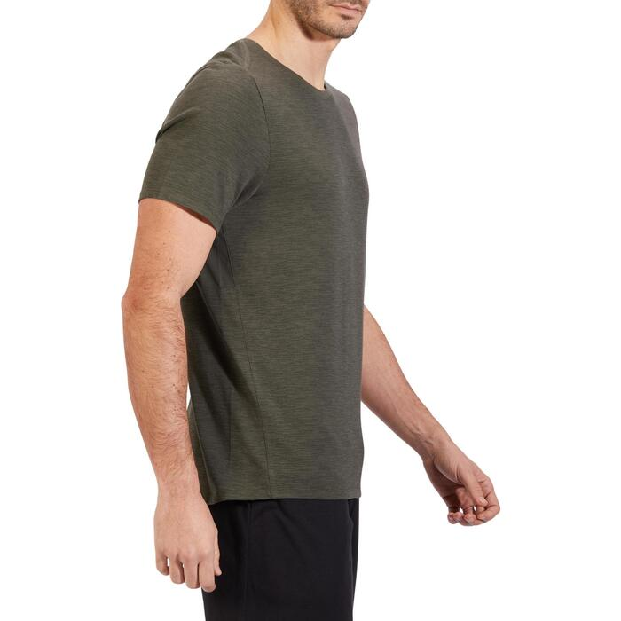 T-Shirt 520 regular col rond Gym & Pilates blanc AOP homme - 1317849