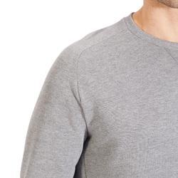 Sweatshirt 500 Pilates sanfte Gymnastik Herren hellgrau