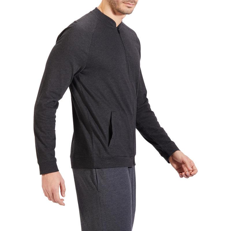 100 Hooded Gentle Gym & Pilates Jacket - Carbon Grey