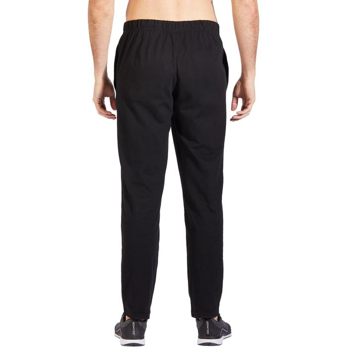 Pantalon 100 regular Pilates Gym douce noir homme