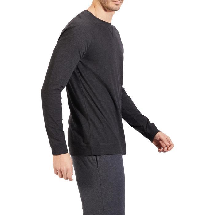 Sweat 100 Gym Stretching homme gris foncé - 1317885