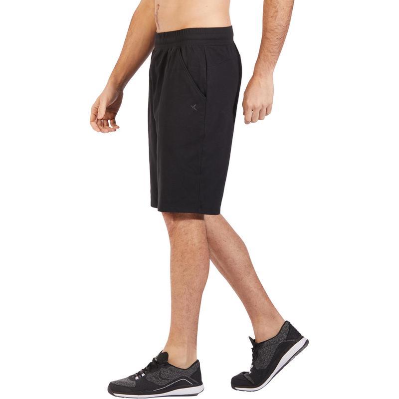 Pánské šortky 500 na cvičení nad kolena černé  765a6f7787