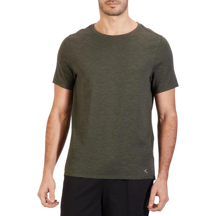 T-Shirt 520 regular col rond Gym & Pilates blanc AOP homme - 1317900