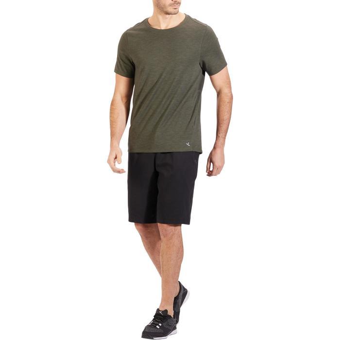 Short 500 regular au dessus du genou Gym Stretching noir homme - 1317904