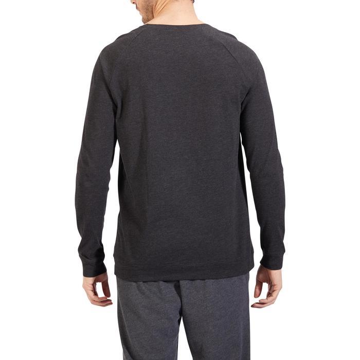 Sweat 100 Gym Stretching homme gris foncé - 1317905
