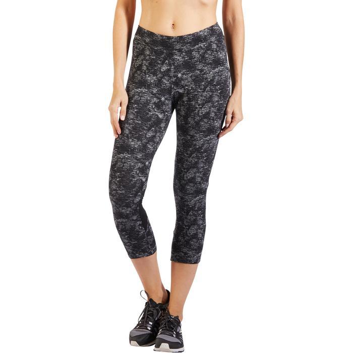 Legging 7/8 520 Gym & Pilates femme gris chiné - 1317922