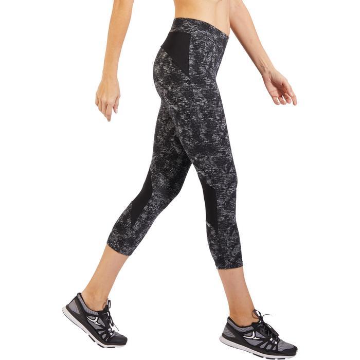 Legging 7/8 520 Gym & Pilates femme gris chiné - 1317930