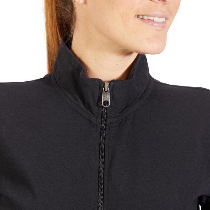 Veste 100 Gym & Pilates Femme sans capuche noir - 1317937