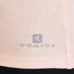 Camiseta Sin Mangas Tirantes Gimnasia Pilates Domyos 500 Mujer Rosa