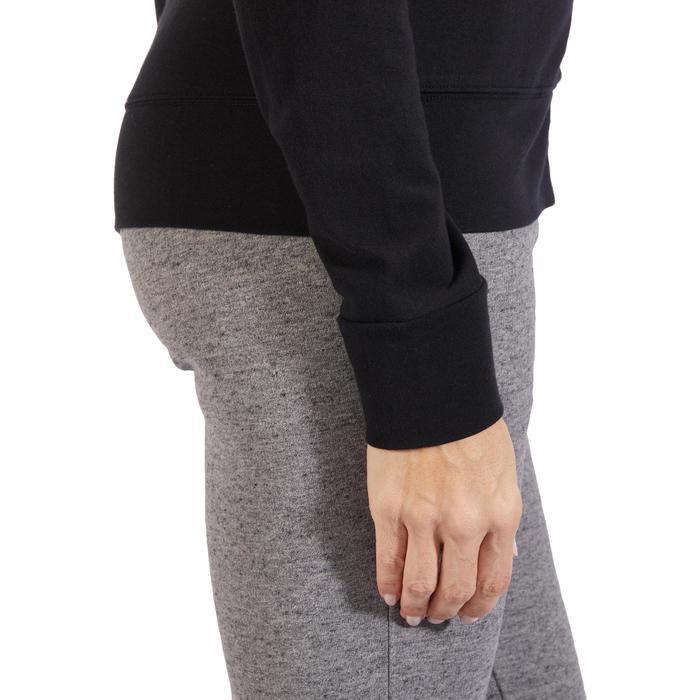 Veste 100 Gym & Pilates Femme sans capuche noir - 1317983