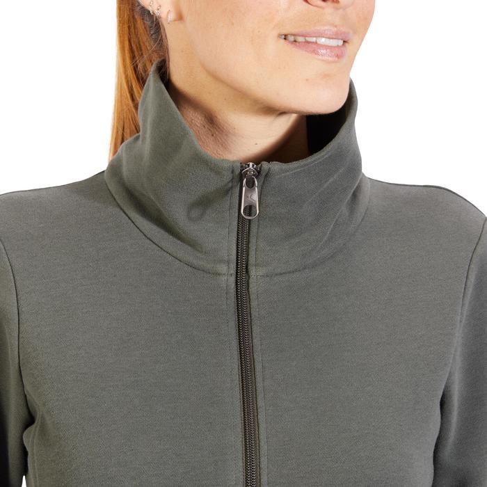 Veste 500 Gym & Pilates femme sans capuche zippée - 1317992