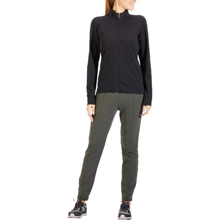 Veste 100 Gym & Pilates Femme sans capuche noir - 1317995