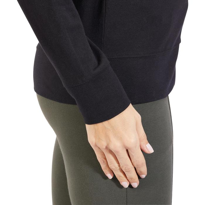 Veste 100 Gym & Pilates Femme sans capuche noir - 1317999