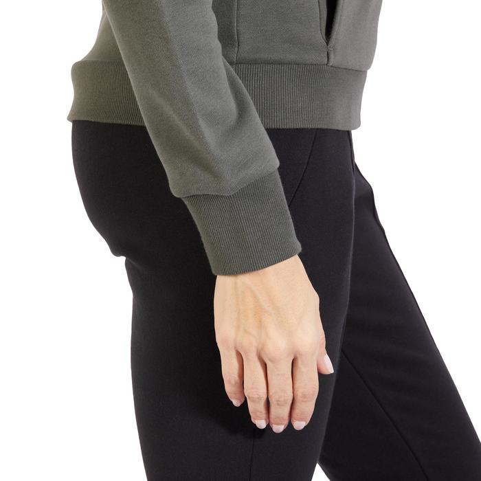 Veste 500 Gym & Pilates femme sans capuche zippée - 1318001