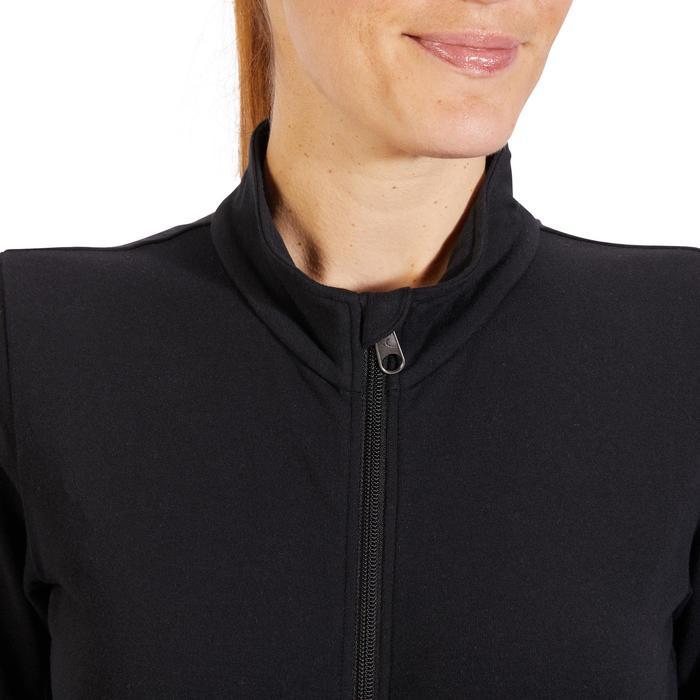Veste 100 Gym & Pilates Femme sans capuche noir - 1318019