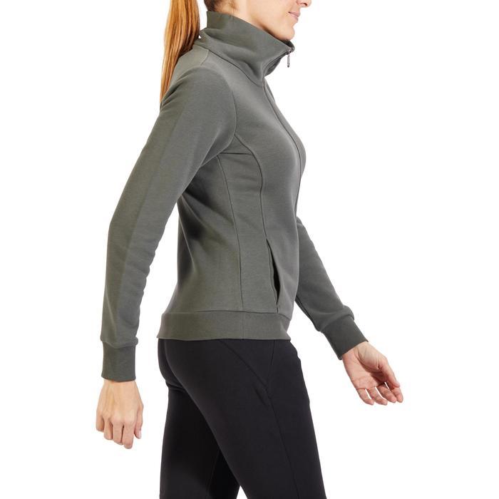 Veste 500 Gym & Pilates femme sans capuche zippée - 1318021