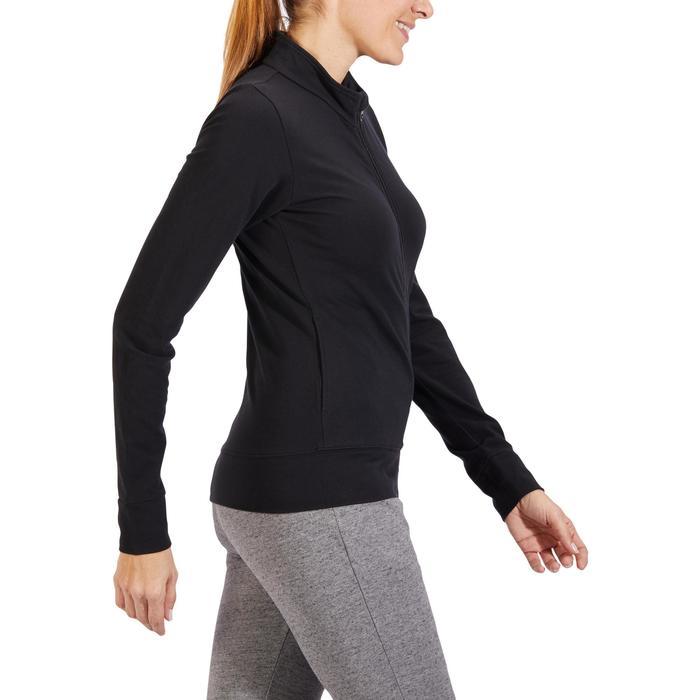 Veste 100 Gym & Pilates Femme sans capuche noir - 1318031