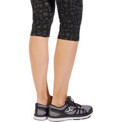 3/4-Hose Fit+ 500 Slim Fitness Damen blau mit Print