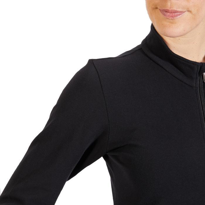 Veste 100 Gym & Pilates Femme sans capuche noir - 1318045
