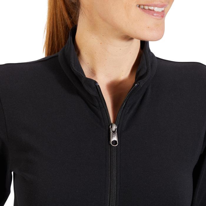 Veste 100 Gym & Pilates Femme sans capuche noir - 1318061
