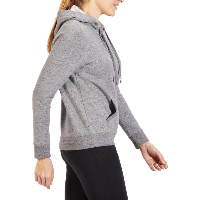 Dameshoodie met rits voor gym en stretching 520 gemêleerd - 1318063