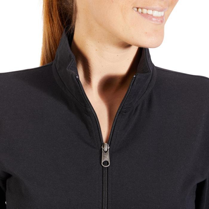 Veste 100 Gym & Pilates Femme sans capuche noir - 1318084