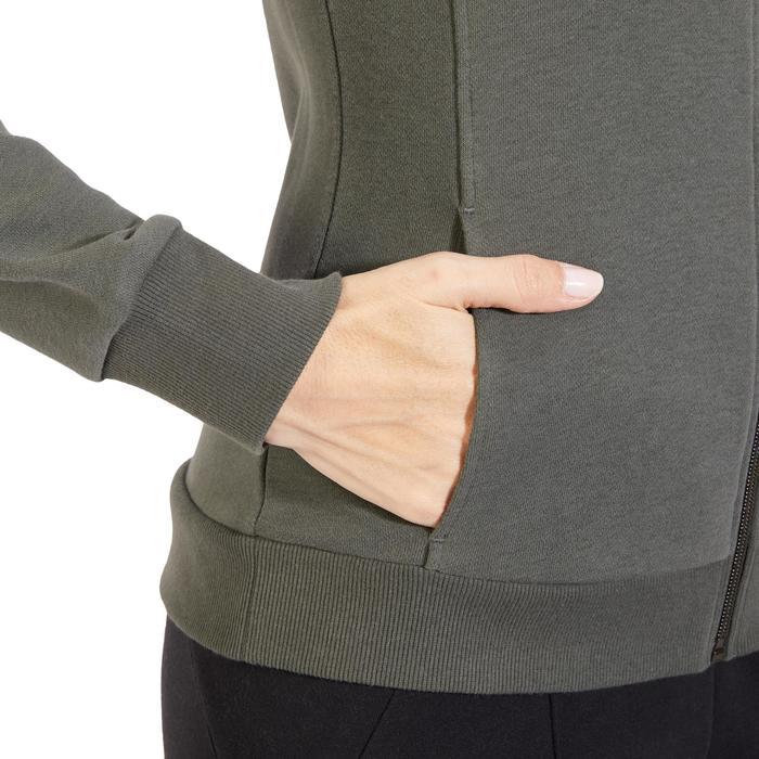 Veste 500 Gym & Pilates femme sans capuche zippée - 1318087