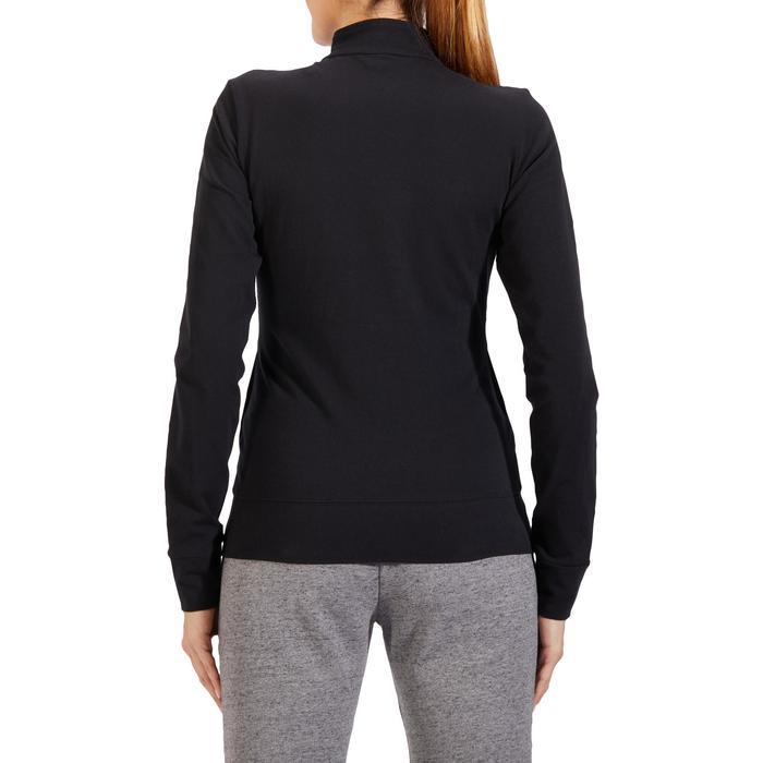 Veste 100 Gym & Pilates Femme sans capuche noir - 1318091