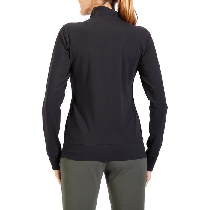 Veste 100 Gym & Pilates Femme sans capuche noir - 1318105