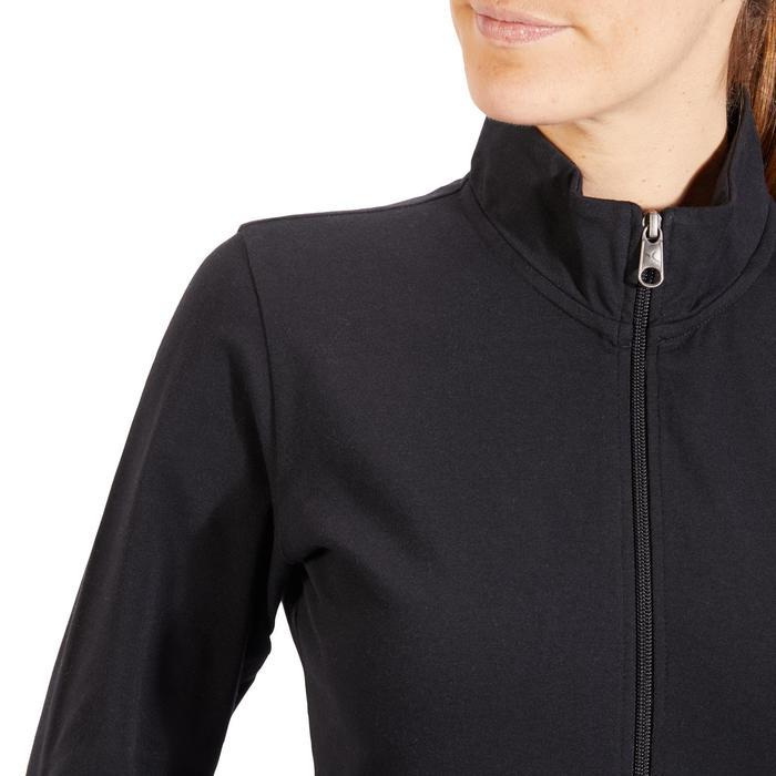 Veste 100 Gym & Pilates Femme sans capuche noir - 1318111