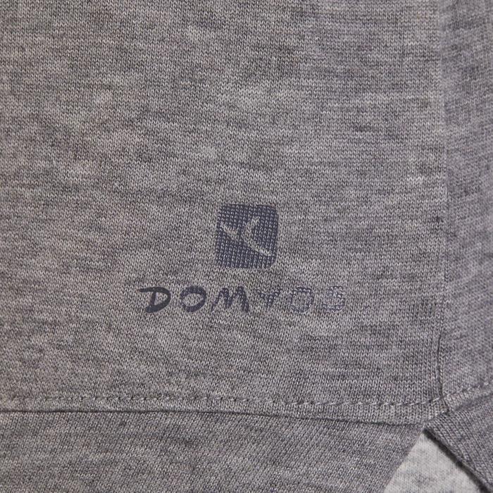 T-Shirt 500 manches longues Gym & Pilates femme gris chiné moyen - 1318123