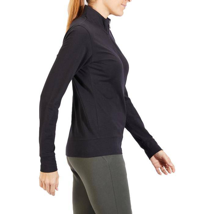 Veste 100 Gym & Pilates Femme sans capuche noir - 1318129