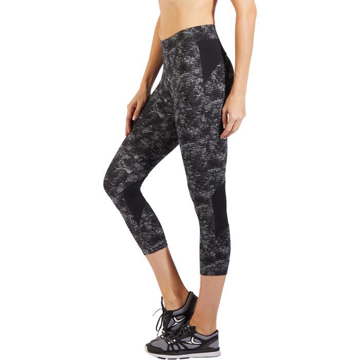 Legging 7/8 520 Gym & Pilates femme gris chiné - 1318150