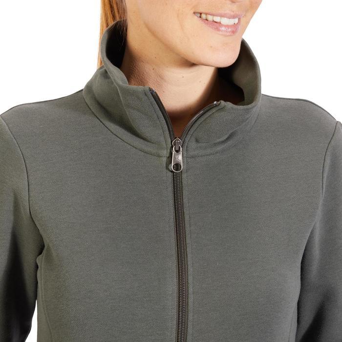 Veste 500 Gym & Pilates femme sans capuche zippée - 1318164