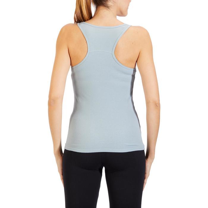 Camiseta sin mangas 500 gimnasia y pilates mujer azul claro grisáceo