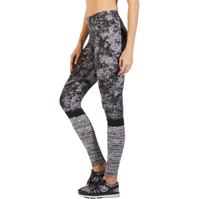 Leggings Fit+ 500 Slim Gym & Pilates Damen grau