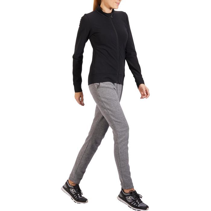 Veste 100 Gym & Pilates Femme sans capuche noir - 1318183