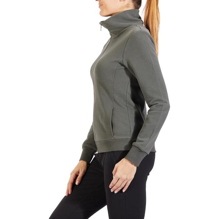 Veste 500 Gym & Pilates femme sans capuche zippée - 1318186