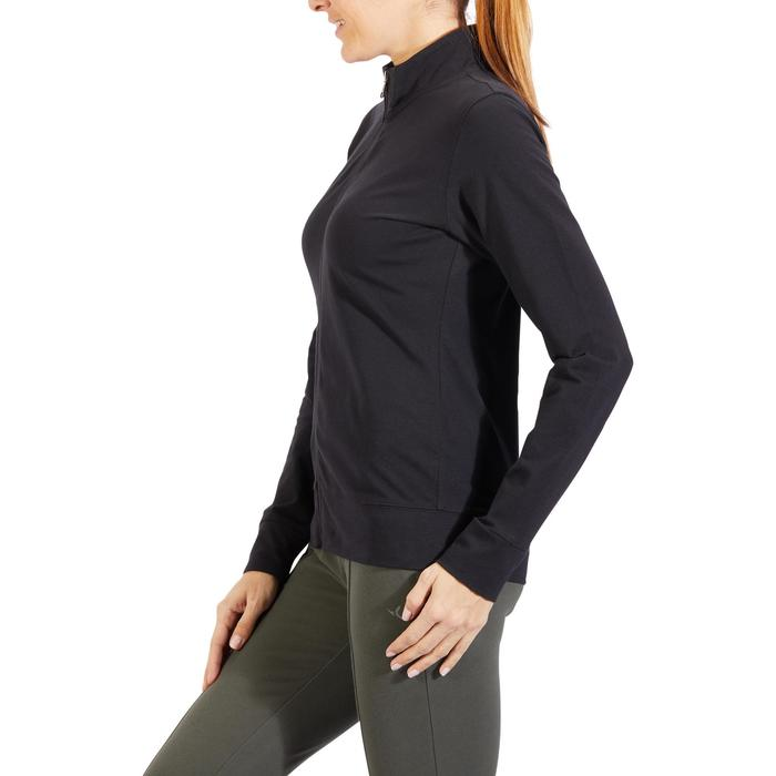 Veste 100 Gym & Pilates Femme sans capuche noir - 1318187