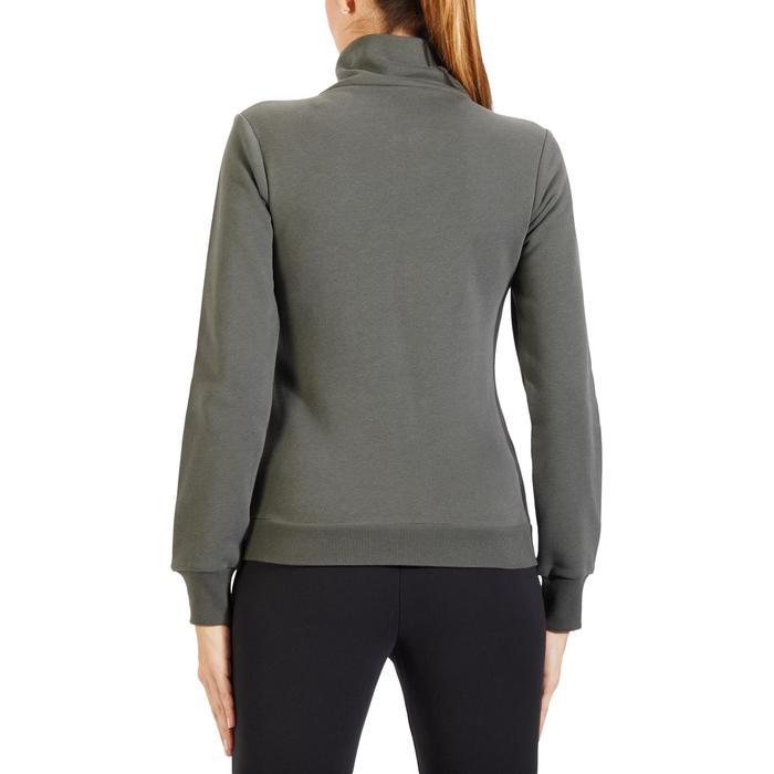 Veste 500 Gym & Pilates femme sans capuche zippée - 1318194